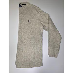 Polo Ralph Lauren cream waffle long sleeve shirt
